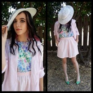 Awesome Vtg 60s white lace hat!